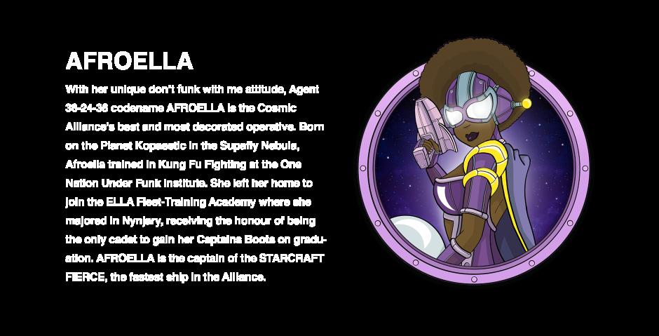 Afroella character